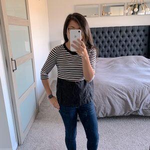 Zara Stripe Top Size M 🎄